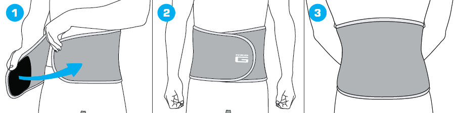 How To Apply - 889 Waist/Back Support