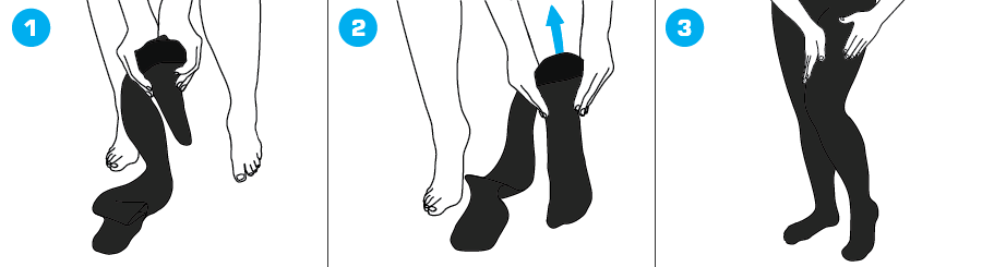 How To Apply - 923 Closed Toe Pantyhose Compression Hosiery