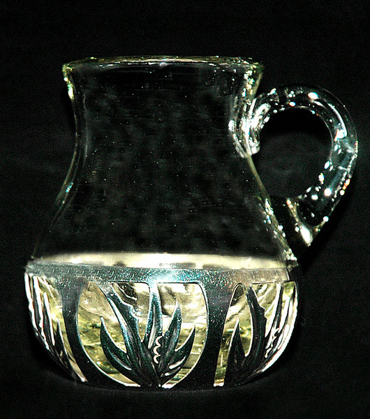 Glass & Polished Sterling Jarrito [Small Jar] for Mezcal and Tequila