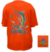 CLOSEOUT:  Marlin Short Sleeve Performance Dri-Wear Shirt Safety Orange (Small Only)