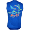 Dolphin - Sleeveless Performance Dri-Wear Shirt Royal Blue