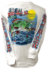 Bass-Frog - White Long Sleeve T-Shirt (2X-Large Only)