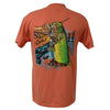 CLOSEOUT:  Bass Catch of the Day Rip A Lip Short Sleeve T-Shirt Orange (Medium & X-Large Only