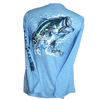 Bass Splash Poly HD Solar Long Sleeve Performance Dri-Wear Shirt Provence Blue (Small & 3X Only)