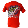 Bass Splash Rip A Lip Short Sleeve T-Shirt w/Pocket Red (Small, Medium & Large Only)