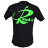 CLOSEOUT:  Rip A Lip Logo Short Sleeve T-Shirt Black & Neon Green (Medium, Large & X-Large Only)