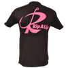 CLOSEOUT:  Rip A Lip Logo Short Sleeve T-Shirt Black & Neon Pink (Medium & Large Only)