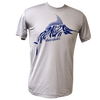 CLOSEOUT: Bonefish Poly HD Short Sleeve Performance Dri-Wear Shirt Silver & Royal Blue (Small & Medium Only)