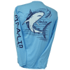 CLOSEOUT: Bull Shark Poly HD Long Sleeve Performance Dri-Wear Shirt Blue Atoll (Small & Medium Only)