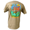 CLOSEOUT: Rip A Lip Swamp Cabin Short Sleeve T-Shirt Sand (Medium, Large & XL Only)
