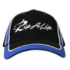 Black & Royal Blue Fitted Rip A Lip Cap