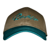CLOSEOUT:  Khaki & Jade Rip a Lip Cotton Cap