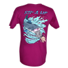 CLOSEOUT:  Catfish Hand Fishing Team Rip A Lip Short Sleeve T-Shirt Raspberry (X-Small Only)