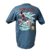 Catfish Hand Fishing Team Rip A Lip Short Sleeve T-Shirt Slate