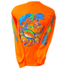 CLOSEOUT:  Crab - Safety Orange Long Sleeve T-Shirt (Small Only)