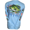 Crappie Long Sleeve Rip A Lip T-Shirt Light Blue (Small & Large Only)