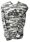 CLOSEOUT: Camo Gray Poly HD Solar Long Sleeve Performance Dri-Wear Rip A Lip Shirt Gray Camo (Medium & Large Only)