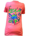 CLOSEOUT: Hooked on a Cure With CCA Mississippi Short Sleeve T-Shirt Safety Pink (Small Only)