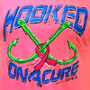 CLOSEOUT: Hooked on a Cure Short Sleeve T-Shirt Safety Pink (Small & Medium Only)