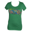 CLOSEOUT: Junior Ladies Turtle  Short Sleeve T-Shirt Heather Green (2X-Large Only)