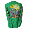 CLOSEOUT: Mardi Gras Catch of the Day Long Sleeve T-Shirt Irish Green (Small & Large Only)