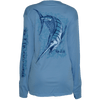 CLOSEOUT: Marlin Poly HD Long Sleeve Performance Dri-Wear Fishing Shirt Blue (Medium Only)