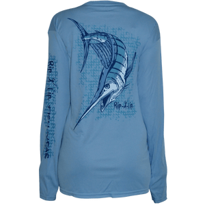 Marlin poly hd long sleeve performance dri wear fishing for Rip a lip fish wear