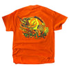Nassau Grouper Fish Safety Orange Rip A Lip Short Sleeve T-Shirt