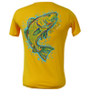 Redfish Short Sleeve Performance Dri-Wear Shirt Gold (Small Only)