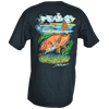 CLOSEOUT:  Redfish Tailing Short Sleeve T-Shirt Charcoal (Small, Medium & Large Only)