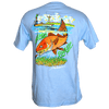 CLOSEOUT:  Redfish Tailing Short Sleeve T-Shirt Powder Blue (Small & Medium Only)