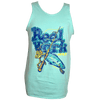 CLOSEOUT: Reel Work Celadon Rip A Lip Tank Top (Small, Medium & X-Large Only)