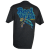 CLOSEOUT: Reel Work Rip A Lip Short Sleeve T-Shirt w/Pocket Charcoal Heather (Small, Medium & Large Only)