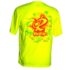 CLOSEOUT:  Circle Of Fish RIP Zone Short Sleeve Performance Dri-Fit Shirt Safety Green (Small Only)