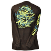 CLOSEOUT: Salt Water Trinity Long Sleeve T-Shirt Black & Neon Yellow (Large Only)