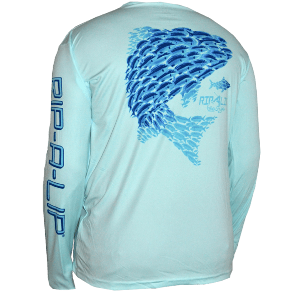 School Of Fish Poly HD Solar Long Sleeve Shirt Seagrass