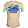 CLOSEOUT: Shrimp Boat Short Sleeve Performance Dri-Wear Shirt Bone (Small & Medium Only)