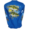 Small Mouth Bass Long Sleeve T-Shirt Royal Blue (Small, Medium & X-Large)