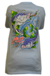CLOSEOUT:  Snook - Powder Blue Short Sleeve Graphic Tee (Small & Medium Only)