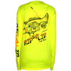 CLOSEOUT: Speckled Trout Poly HD Long Sleeve Performance Dri-Wear Shirt Safety Green (Small & Medium Only)