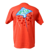 CLOSEOUT: Stingray Short Sleeve T-Shirt Coral (Small,Medium & Large Only)