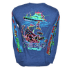 CLOSEOUT: Striped Bass Long Sleeve T-Shirt Denim Heather (Medium Only)