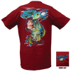 CLOSEOUT:  Bass Short Sleeve T-Shirt Cardinal Red (Small Only)