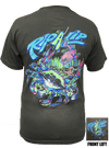 CLOSEOUT:  Blue Crab - Charcoal Short Sleeve Graphic Tee (Small Only)