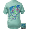 CLOSEOUT:  Blue Crab - Celadon Short Sleeve Graphic Tee (Small & Large Only)