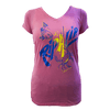 CLOSEOUT: Crab -Junior Ladies Pink V-Neck (2X Only)