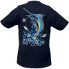 CLOSEOUT:  Marlin - Navy Short Sleeve T-Shirt (Small & Medium Only)