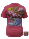 CLOSEOUT: Rainbow Trout - Coral Short Sleeve Graphic Tee