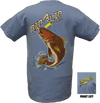 CLOSEOUT:  Redfish Short Sleeve T-Shirt Caribbean Blue (Small & Medium Only)