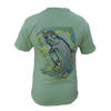 CLOSEOUT:  Tarpon Short Sleeve T-Shirt Mint (Small, Medium & Large Only)